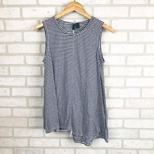 Anthropologie Left of Center Striped Tank Size S